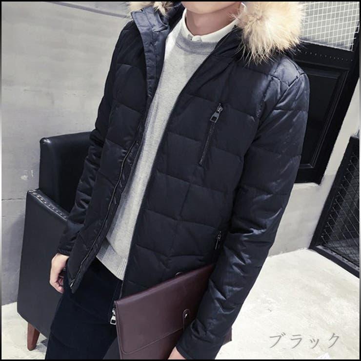 ジャケット メンズ アウター 中綿ジャケット ジップアップ 長め フェイクファー フード付 カジュアル メンズファッション中綿入りジャケット