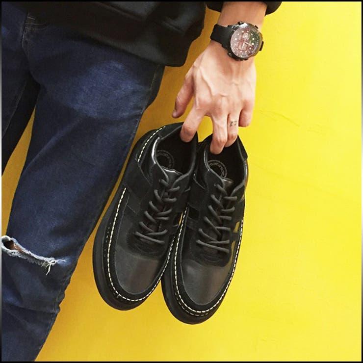 スニーカー メンズ ブーツ・シューズ カジュアルシューズ 紐 モカシン PUレザー シンプル 合皮 ローカット カジュアル 靴 紳士靴ウォーキング