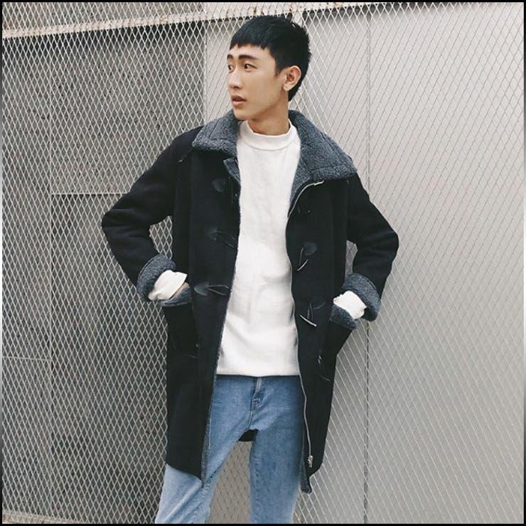 ダッフルコート メンズ アウター ドロップショルダー 無地 内側ボア きれいめ カジュアル 通勤 通学 防寒 メンズファッションコート 紳士服