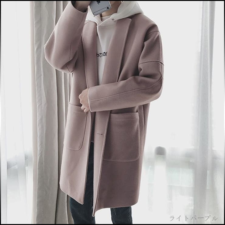 ロングコート メンズ アウター 羽織 無地 シンプル ビジネス フォーマル きれいめ ゆったり カジュアル ファッション コートメンズファッション