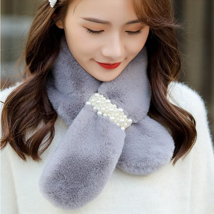 エコファーパールデザインティペット韓国ファッション】 | Doula Doula | 詳細画像1