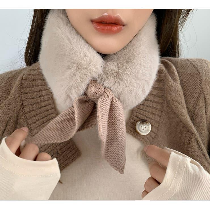 エコファーリボンティペット【韓国ファッション】 | Doula Doula | 詳細画像1