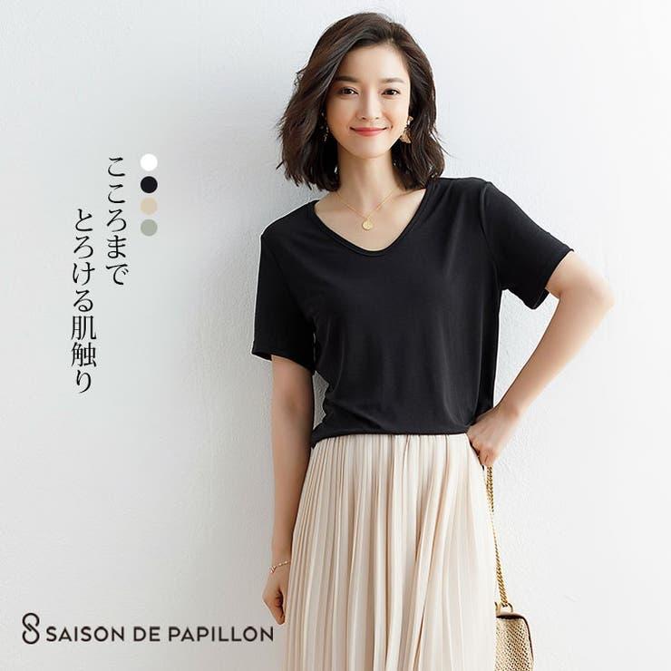 SAISON DE PAPILLON のトップス/Tシャツ   詳細画像