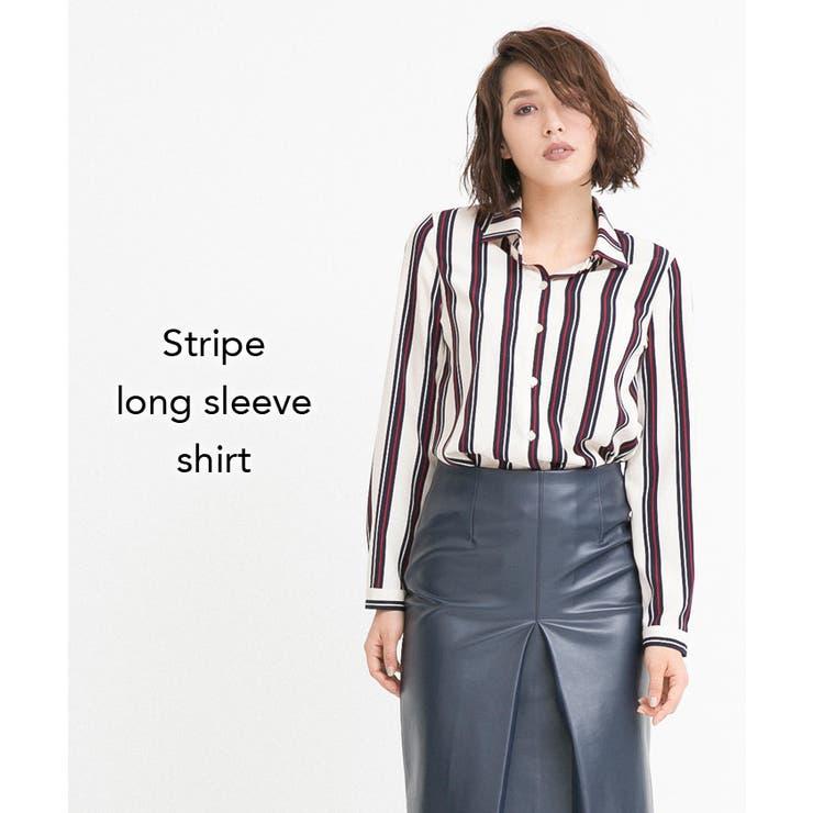 ストライプロングスリーブシャツ