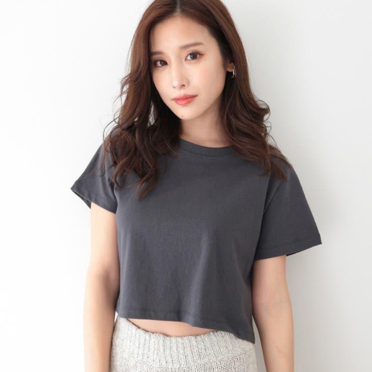 クルーネッククロップTシャツ   AMBIENT   詳細画像1