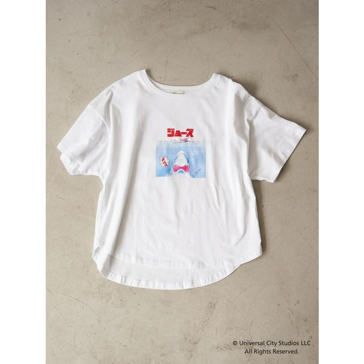 【WEB限定】JAWS COMIC L/S Tシャツ | earth music&ecology  | 詳細画像1