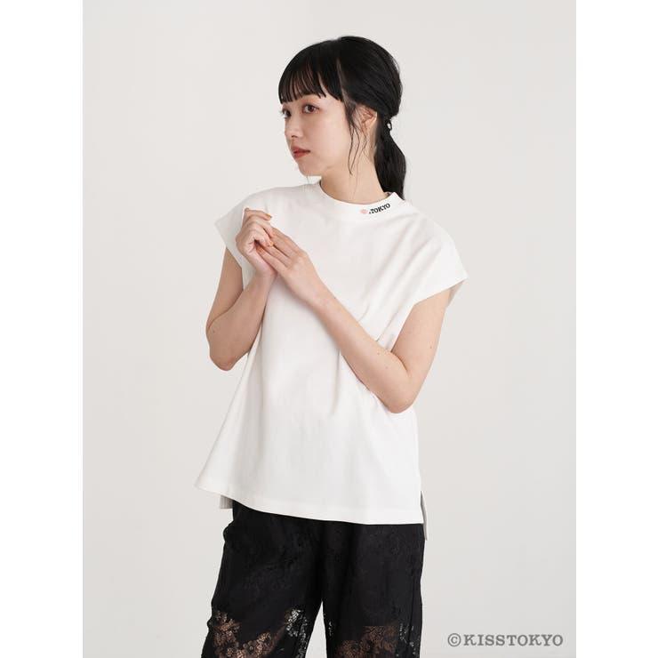 KISS TOKYO フレンチスリーブTシャツ   earth music&ecology    詳細画像1