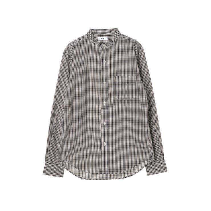 e チェックバンドカラーシャツ | koe | 詳細画像1