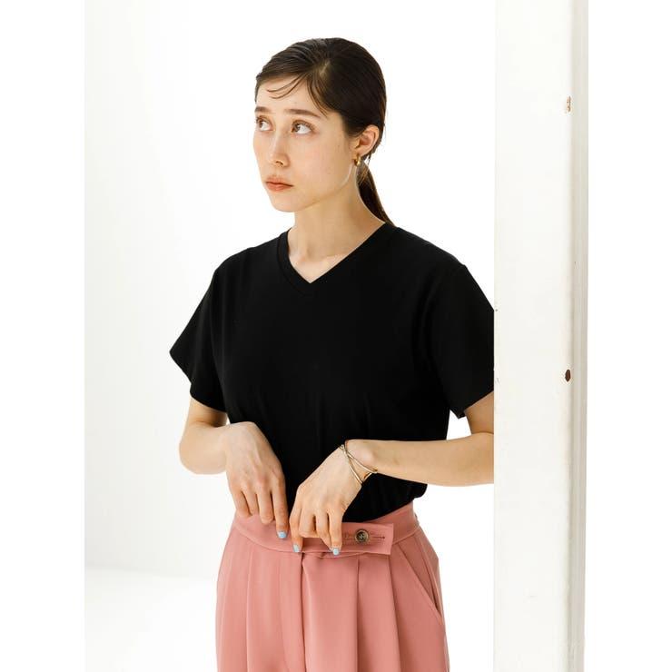 抗菌防臭オーガニックコットンVネックTシャツ | koe | 詳細画像1