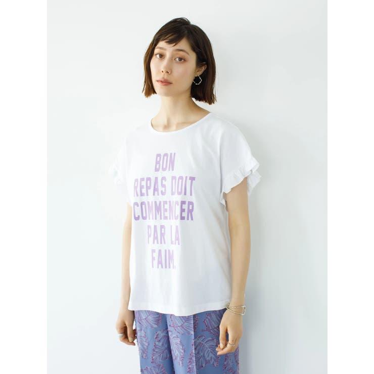 袖フリルプリントTシャツ   koe   詳細画像1