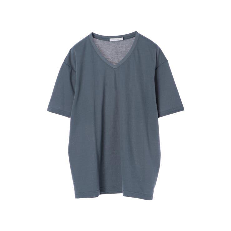 梨地天竺VネックTシャツ   koe   詳細画像1