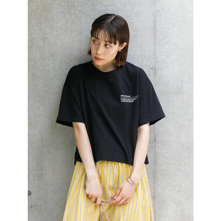 ショート丈ワンポイントプリントTシャツ | koe | 詳細画像1