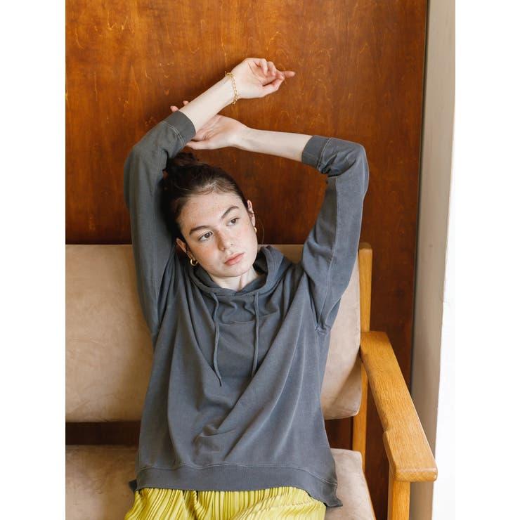 ピグメントパーカーロングTシャツ | koe | 詳細画像1