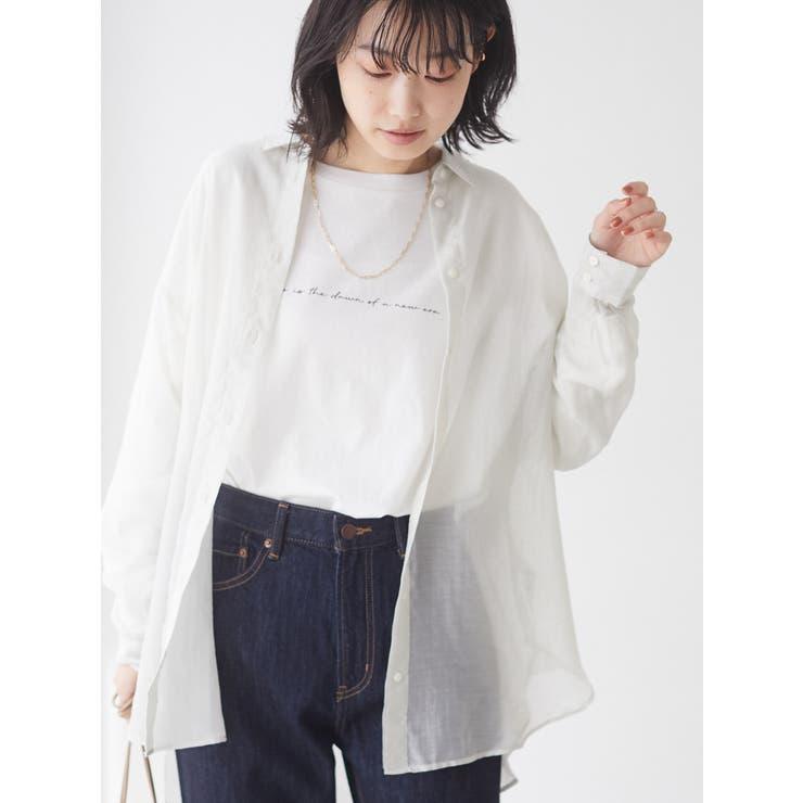 シアーロングシャツ   CRAFT STANDARD BOUTIQUE   詳細画像1