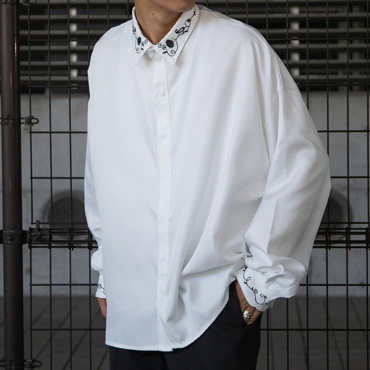 【kutir】フラワー刺繍オーバーシャツ | kutir | 詳細画像1