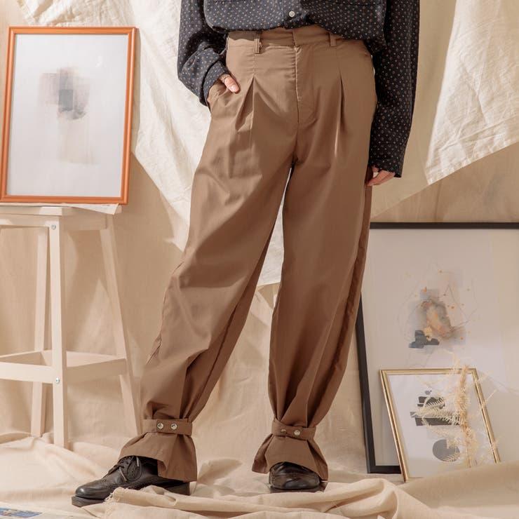 【Adoon plain】裾ベルトパンツ | kutir | 詳細画像1