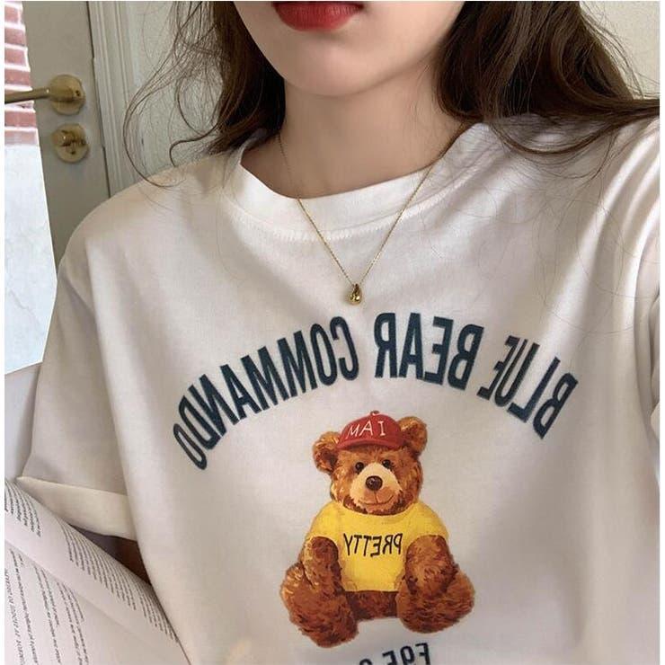 くまプリントTシャツ | Girly Doll | 詳細画像1