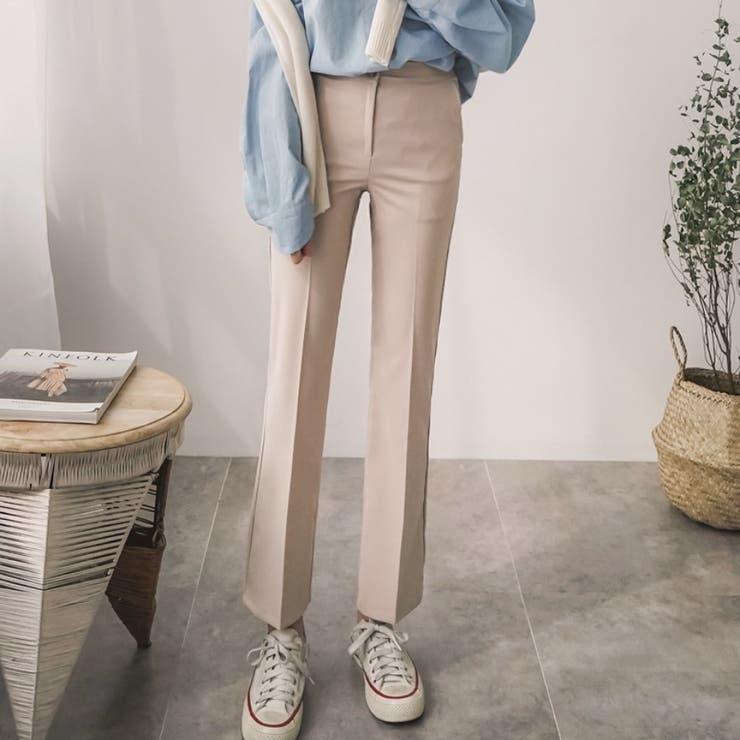 シンプルブーツカットスラックス 韓国ファッション カジュアル | ENVYLOOK | 詳細画像1