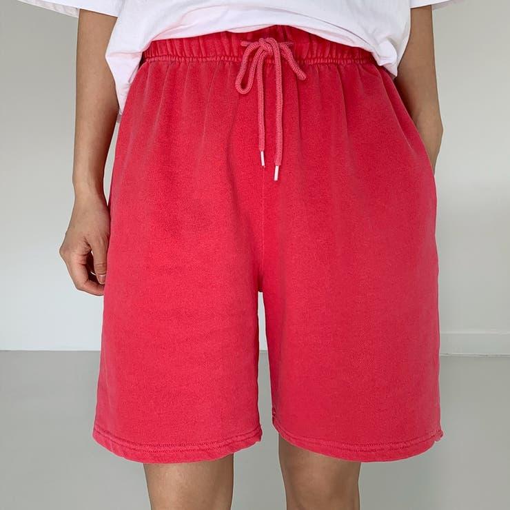 ウエストゴムウォッシングカラーコットンショートパンツ 韓国ファッション カジュアル | ENVYLOOK | 詳細画像1
