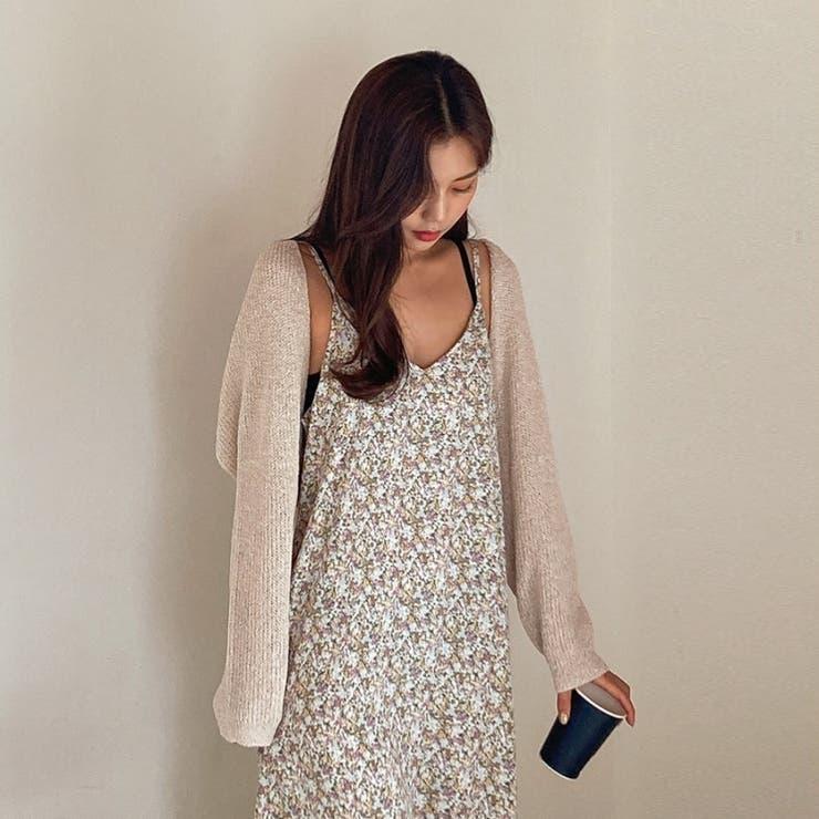 クロップドサマーニットボレロ 韓国ファッション カジュアル | ENVYLOOK | 詳細画像1
