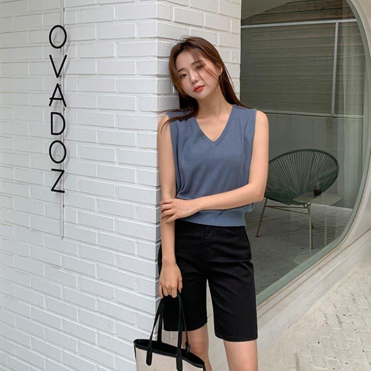 ストレッチコットンストレートハーフパンツ 韓国ファッション カジュアル   ENVYLOOK   詳細画像1