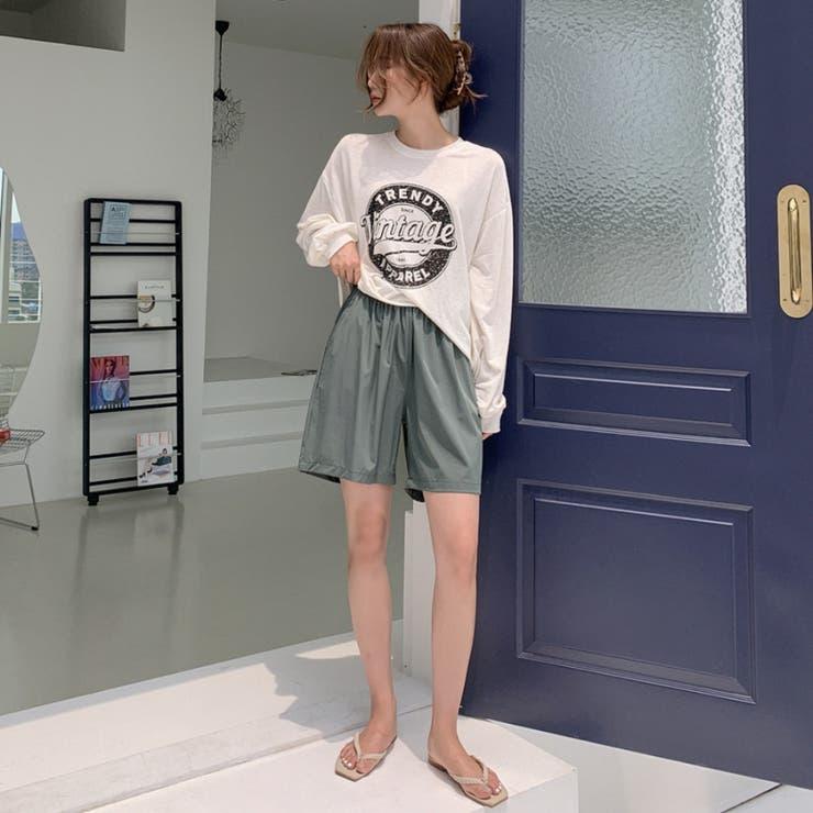 裏ドロストウエストゴムライトショートパンツ 韓国ファッション カジュアル | ENVYLOOK | 詳細画像1