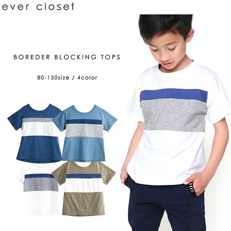 カラーブロッキングTシャツ   詳細画像