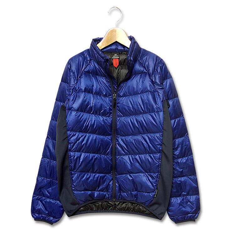 この軽さと暖かさは感動的! ライトダウンジャケット メンズ ライトダウン ダウンジャケット「TULTEX」のポーチに収納出来て旅行に便利なライトダウンジャケット!