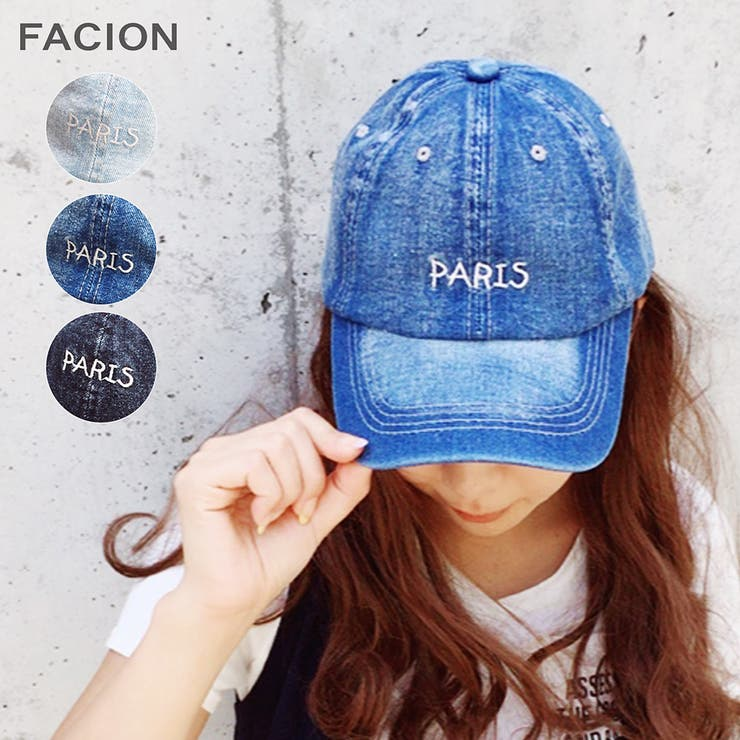 PARISデニムキャップ 帽子 野球帽   FACION   詳細画像1