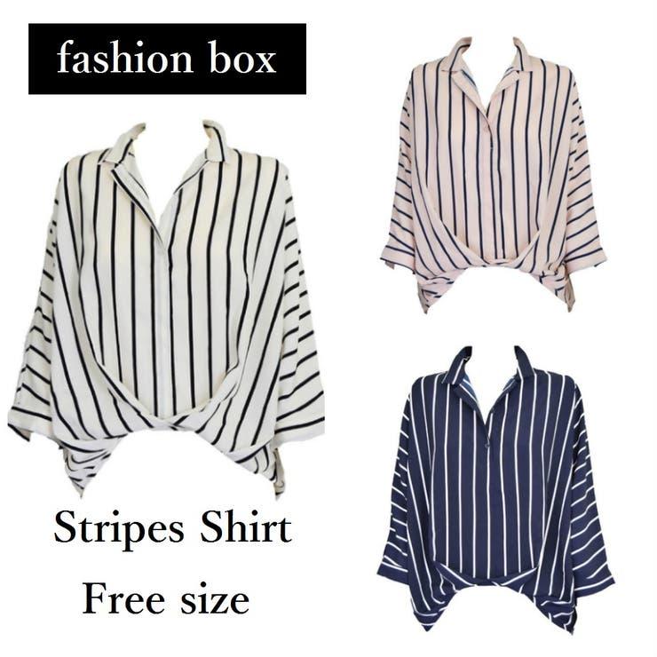 ストライプとろみブラウス シアーシャツ 2020 | fashion box  | 詳細画像1