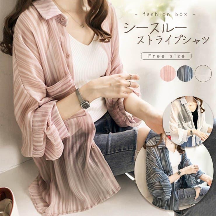 シースルーストライプシャツ 2021 SS | fashion box  | 詳細画像1