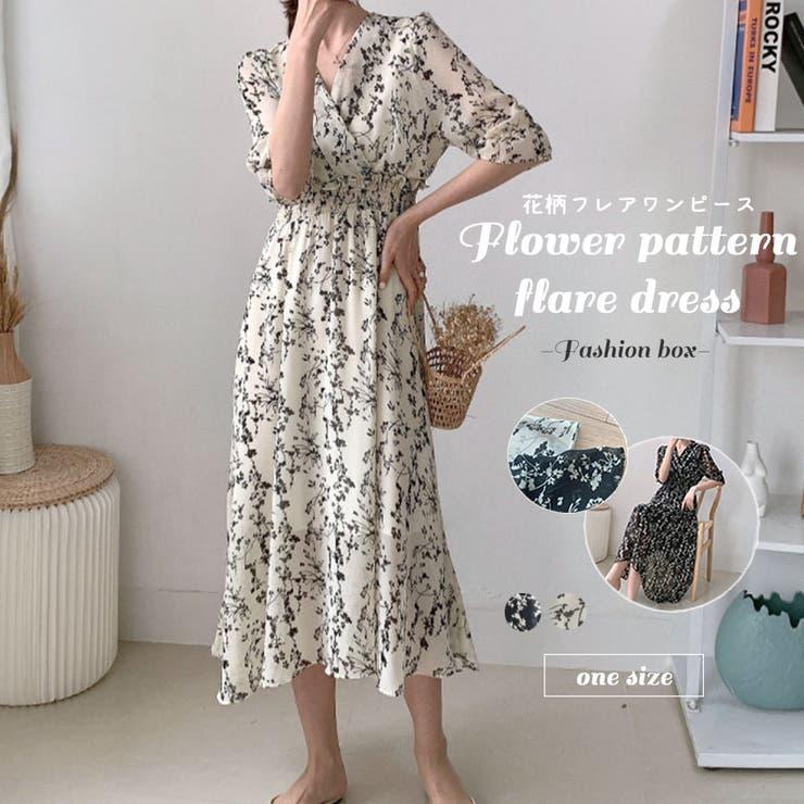 花柄 フレア ワンピース | fashion box  | 詳細画像1