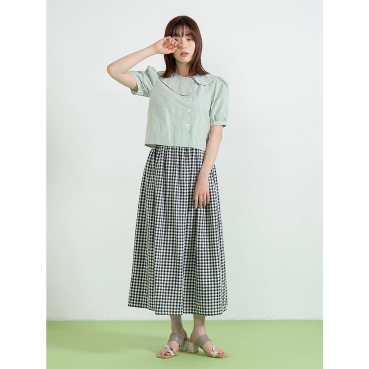 ギンガムチェックミドル丈スカート | fifth | 詳細画像1