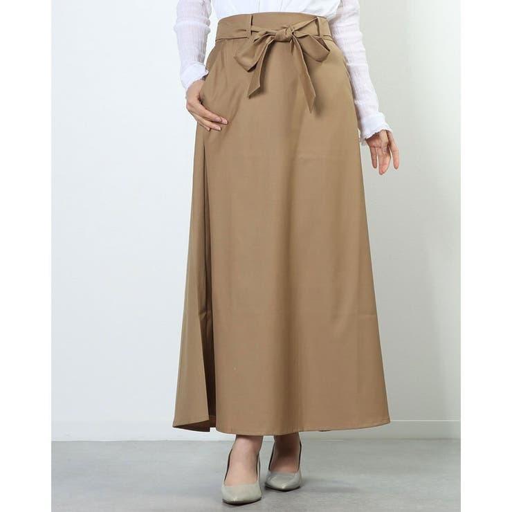 【Rename】ウエストリボンアレンジゆるひらロングスカート | FINE  | 詳細画像1