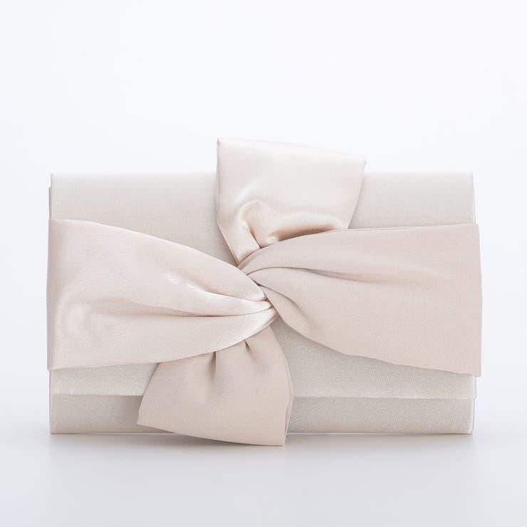 結婚式・謝恩会・フォーマルパーティーバッグ クラッチバッグ リボンモチーフ | Floress | 詳細画像1