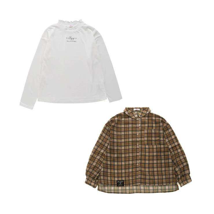 シアーチェックシャツ&ロンTセット   F.O.Online Store   詳細画像1