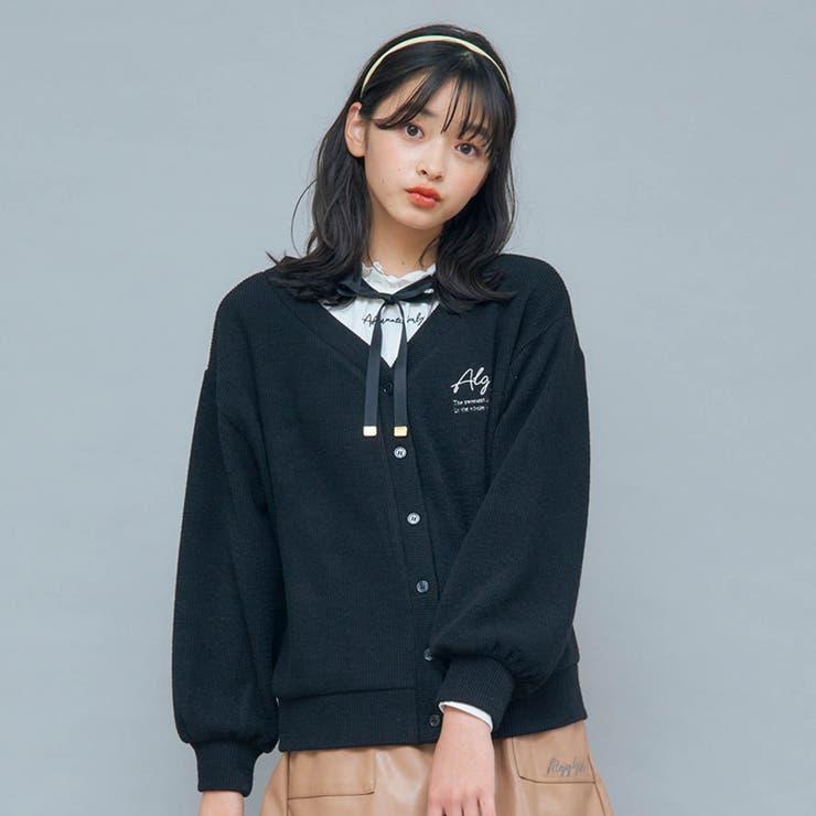 カーデ&りぼん付きロンTセット   F.O.Online Store   詳細画像1