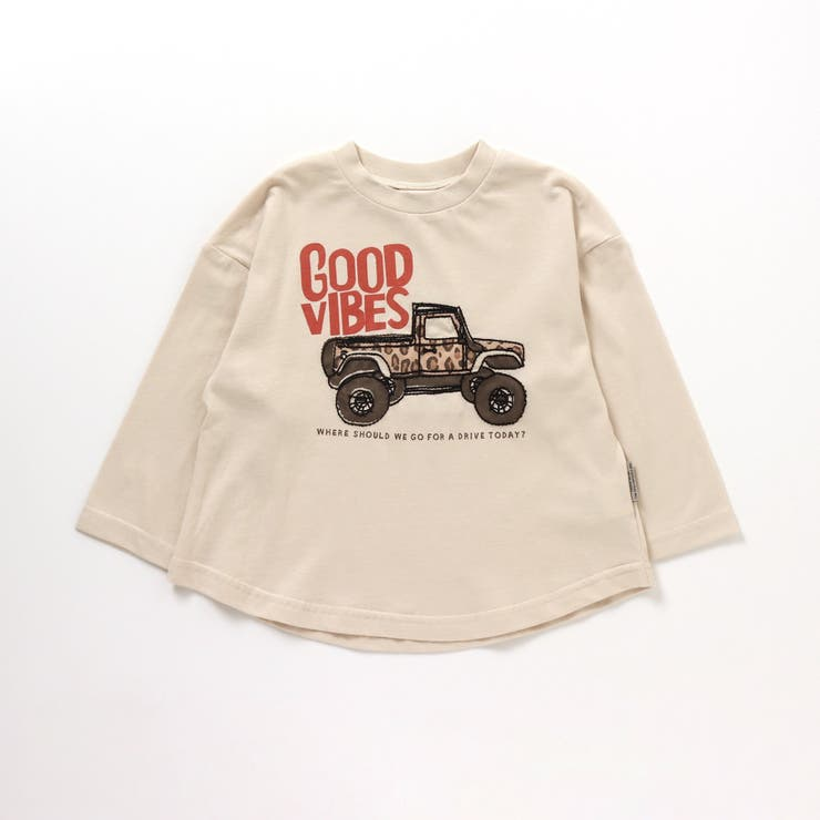 2柄ステッチ刺繍Tシャツ   F.O.Online Store   詳細画像1