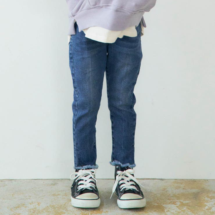 フリンジデニムスキニーパンツ  9分丈 | F.O.Online Store | 詳細画像1