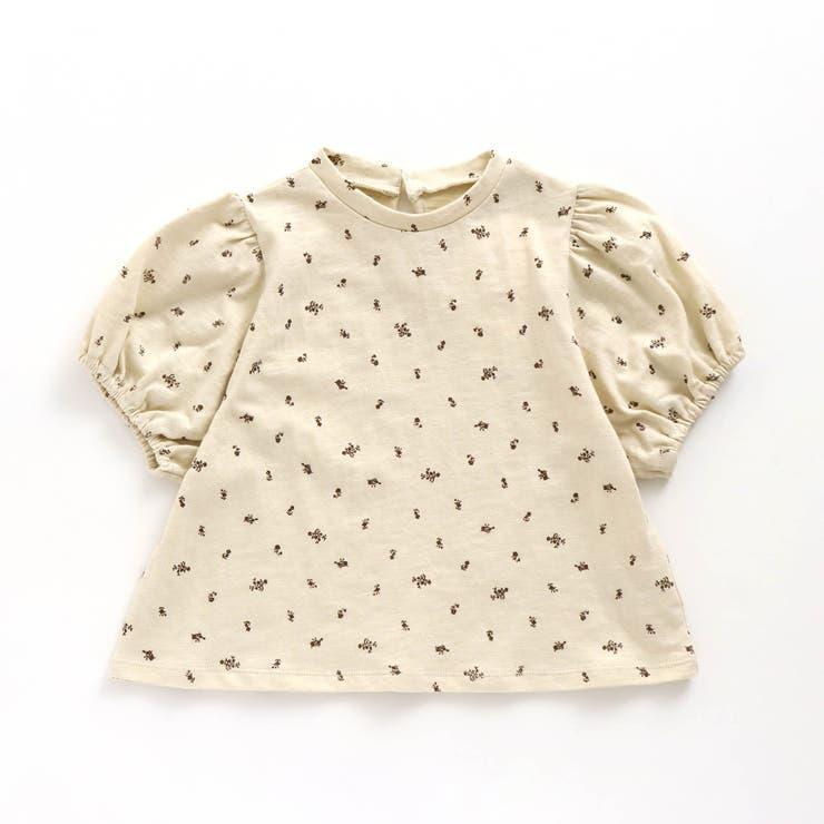 花柄ワイドパフスリーブTシャツ   F.O.Online Store   詳細画像1