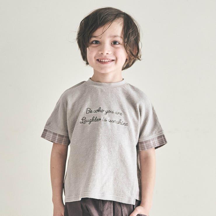 チェック切り替えTシャツ   F.O.Online Store   詳細画像1