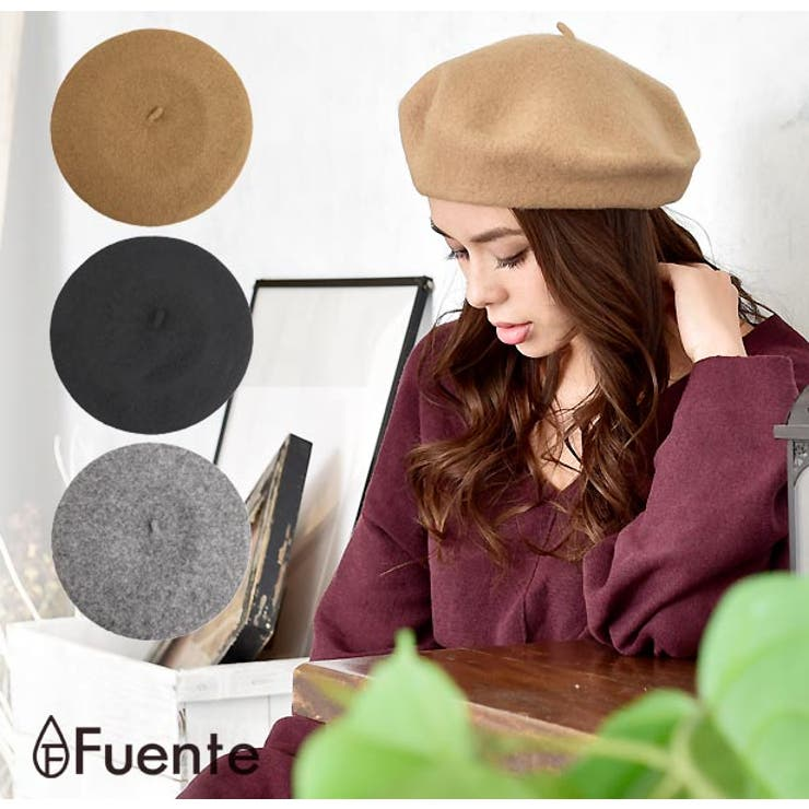 フェルトベレー帽レディース 帽子 ぼうし   FUENTE   詳細画像1