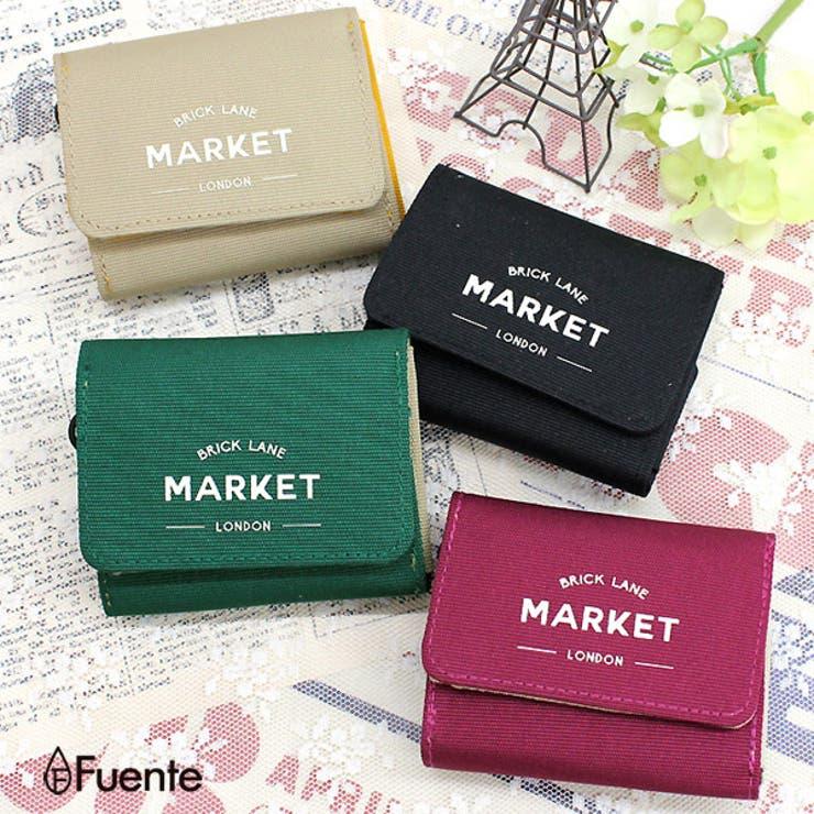 MARKET三つ折りコンパクトウォレットレディース ファスナー財布 ミニ財布   FUENTE   詳細画像1