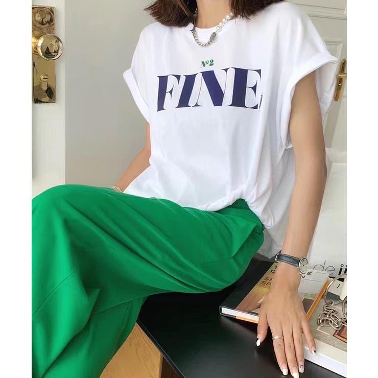 Tシャツ アシンメトリー プリントT | futier land | 詳細画像1