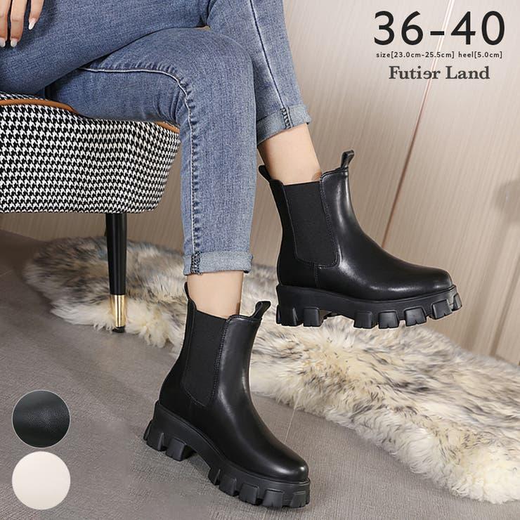 ブーツ 厚底ブーツ サイドゴア | futier land | 詳細画像1