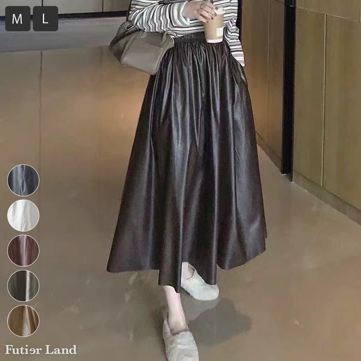 スカート レザースカート ギャザースカート | futier land | 詳細画像1