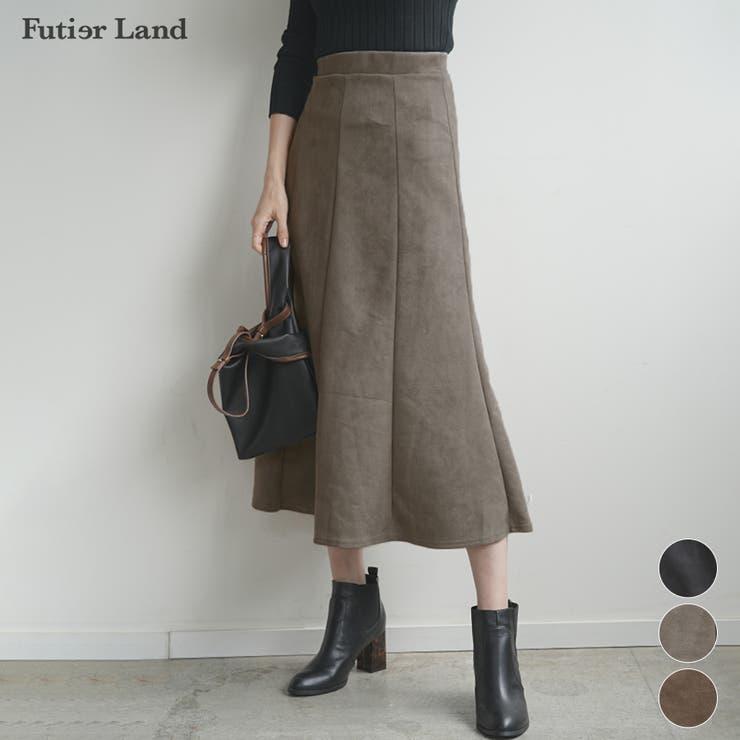マーメイドスカート スカート フェイクスウェード   futier land   詳細画像1