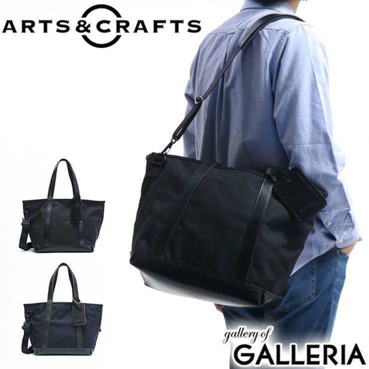 トートバッグ ARTS&CRAFTS ファスナー付き   ギャレリア Bag&Luggage   詳細画像1