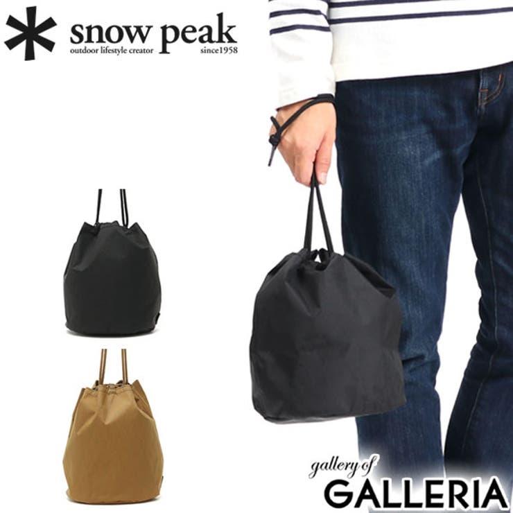 巾着バッグ snow peak   ギャレリア Bag&Luggage   詳細画像1