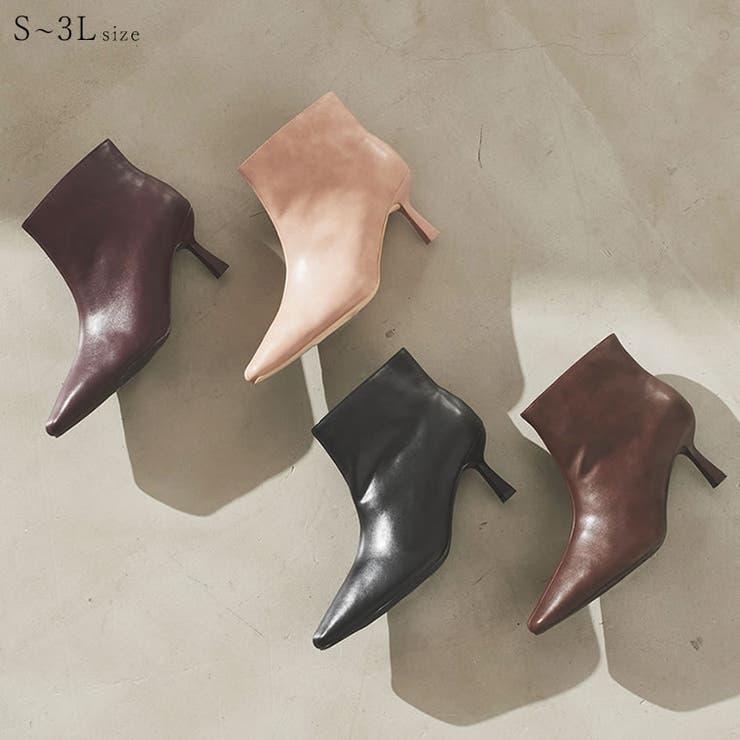 広めの履き口が足首を細く美しく見せてくれるショートブーツ | Re:EDIT | 詳細画像1